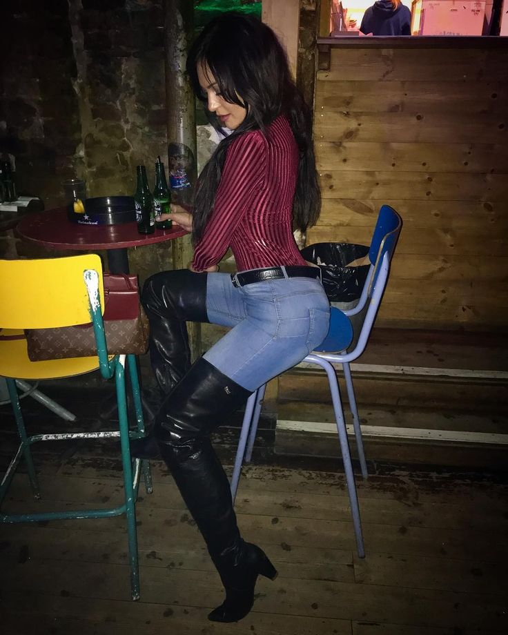 Fernanda Ferrari In Jeans And Knee High Boots More