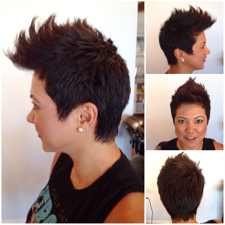 Here's my FoHawk haircut! Done by Yoli at Grand illusions hair salon in El Segundo, CA. Super cute! I'm so happy with it. Exactly what I wanted. And can even blow dry it down for a conservative pixie hair look.
