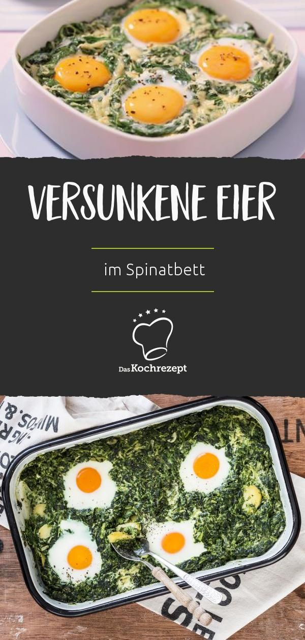 Not only a real hit at Easter: The sunken eggs in the spinach nest are in g …   – Luca
