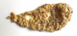 CURRY MUSTARD  1/2 cup yellow mustard seeds 1/2 cup white-wine vinegar 1/4 cup water 1 teaspoon curry powder (see shopper's note) 1 to 2 tablespoons sugar 1/2 teaspoon sea salt To prepare mustard seeds: In small bowl, combine mustard seeds, vinegar and water. Cover. Let cure at room temperature for 2 to 3 days. To make mustard: In blender or food processor, combine mustard-seed mixture, curry powder, sugar and salt. Process to desired consistency.