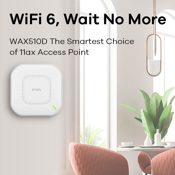 802.11ax (WiFi 6) Dual-Radio Unified Access Point Zyxel WAX510D