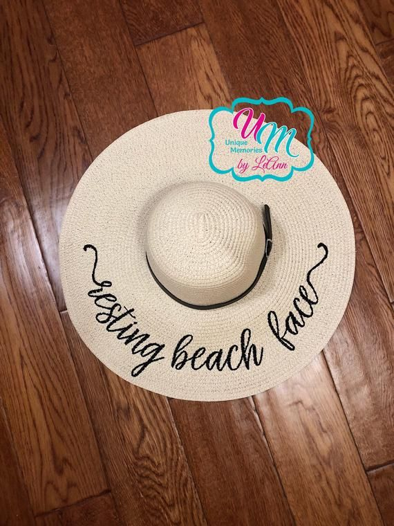 Resting Beach Face Embroidered floppy Beach  accessories  hat  EtsyMktgTool   hatsandcaps  sunhat  beachhat  strawbeachhat  strawfloppyhat 2ff05213122