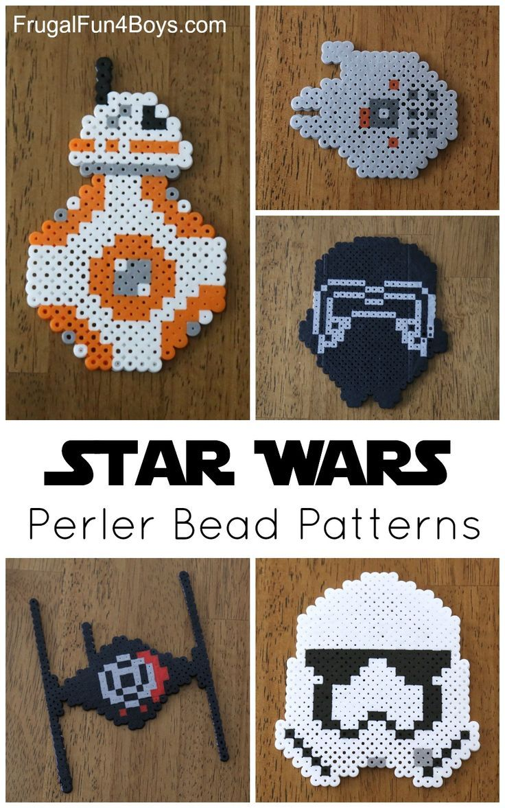 Boys arts and crafts - Star Wars The Force Awakens Perler Bead Patterns