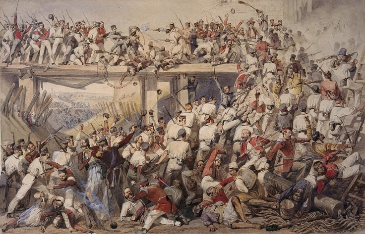 STORMING THE CASHMIR GATE, DELHI, 14 SEPTEMBER 1857\  Source: National Army Museum