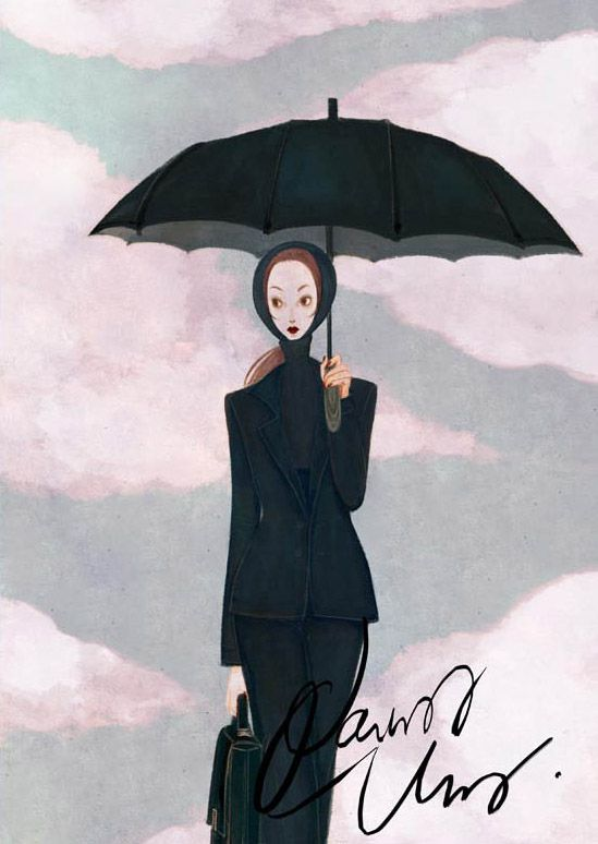 ladies with black umbrellas | The woman in Black with the Black Umbrella | Nancy Zhang – The Sea ...