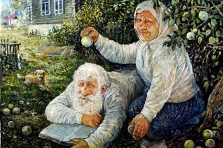 Смешная картинка бабки или деда
