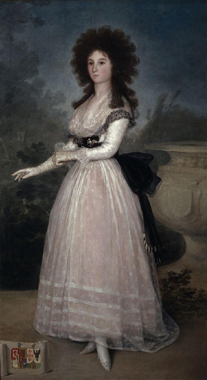 """Francisco de Goya: """"Doña Tadea Arias de Enríquez"""". Oil on canvas, 191 x 106 cm, c. 1790. Museo Nacional del Prado, Madrid, Spain"""