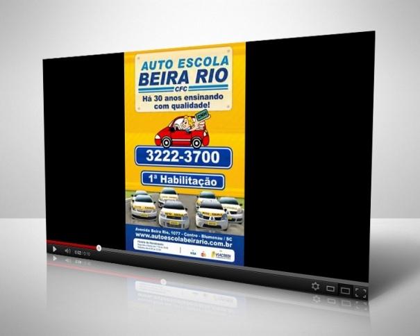 Produção de VT de 10 segundos em mídia indoor para Auto Escola Beira Rio