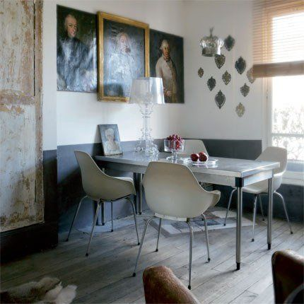 Cabinet parisien: Dining Rooms, Two Ton, Modern Classic, Decoration Blog, Kartel Bourgi, Chairs, Modern Industrial, New Kitchens, Homes Decoration