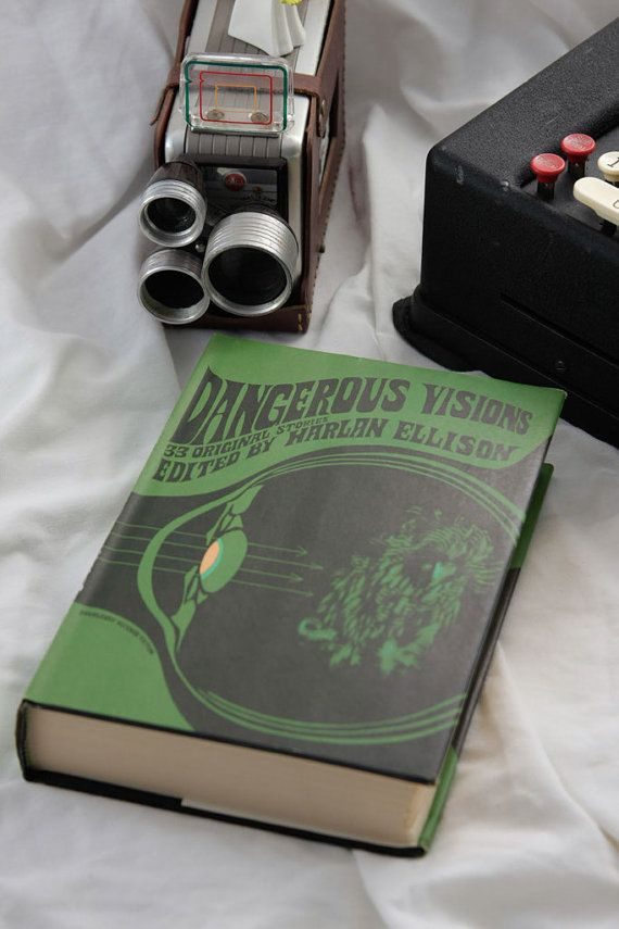 "Science Fiction Book: ""Dangerous Visions"" Harlan Ellison First Sci Fi Book Club Edition 33 stories including Philip K. Dick, Farmer, Niven"