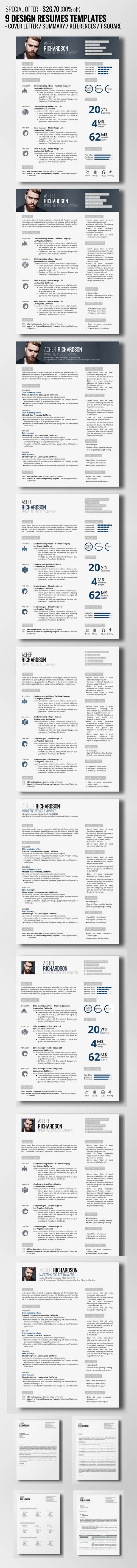 435 best resume images on pinterest resume design script fonts the best design resume templates off 9 templates cover resume summary references t square negle Images