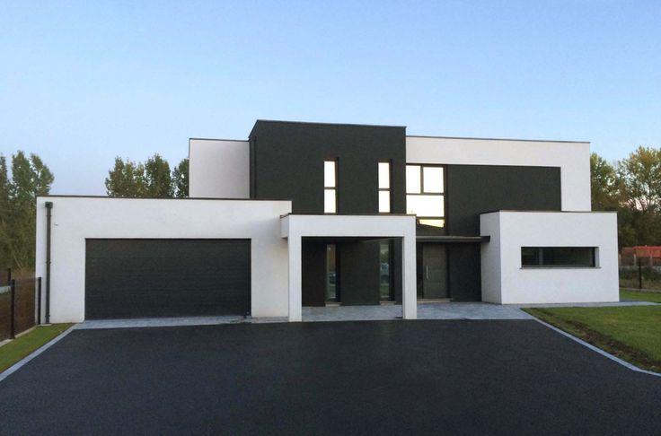 Les 25 meilleures id es de la cat gorie maison cubique sur pinterest fa ade maison moderne Maison cube toit