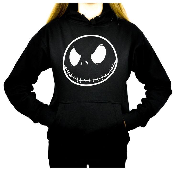 Jack Skellington Women's Pullover Hoodie Sweatshirt Nightmare Before Christmas