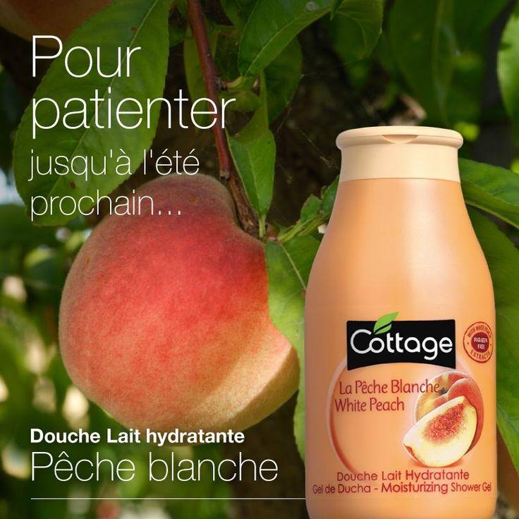 Douche Lait Hydratant Peche Blanche Cottage