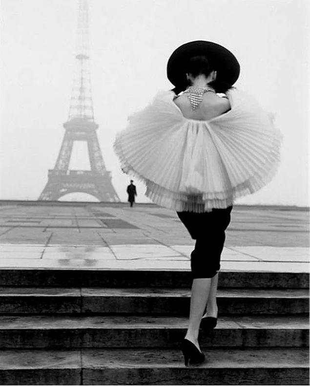 Paris'te bir model, 1950'ler.