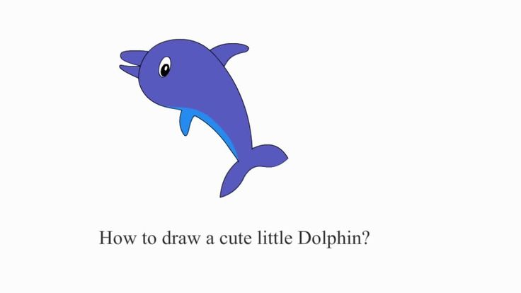 How to draw a simple Dolphin for kids