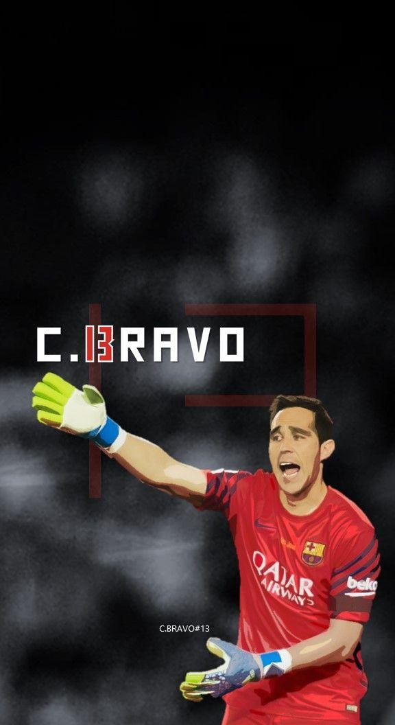 Claudio Bravo  - Barcelona - Football - Soccer Creative Art - wallpaper