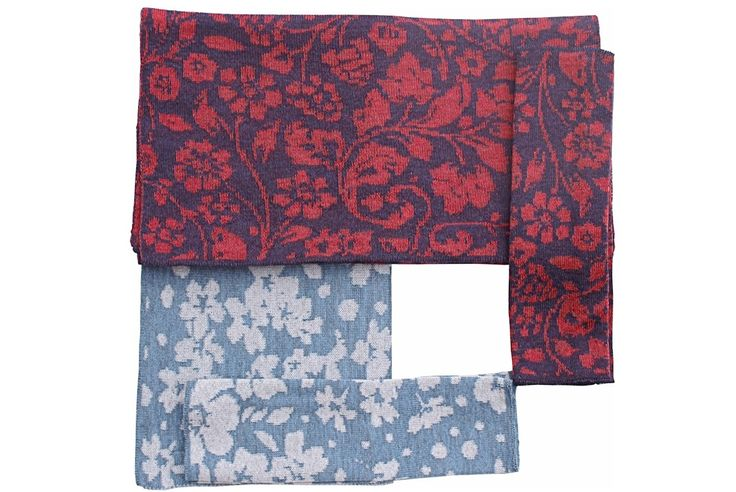 Victoria + Pansy scarf and handwarmers | McKernan Woollen Mills | Handmade scarves | Made in Ireland