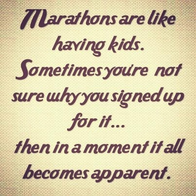 marathons are like having kids quote runner fitness
