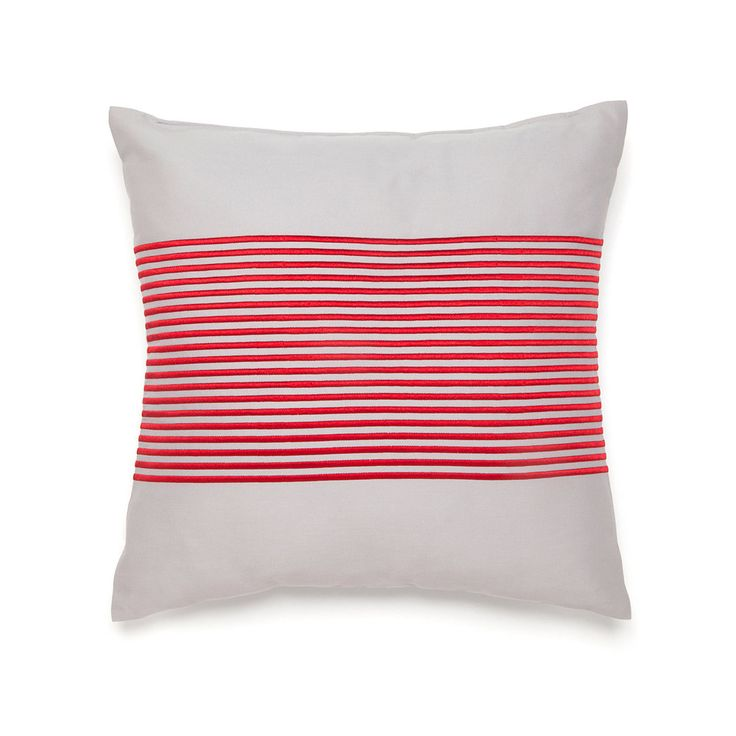Decorate your bed with this adorable striped decorative ...