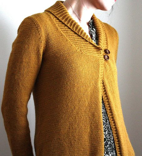 Larch Cardigan by Amy Christoffers in sport weight