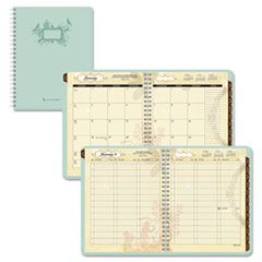 At A Glance 772905: Poetica Weekly / Monthly Planner, 8-1/2 x 11, Green, 2015-2016