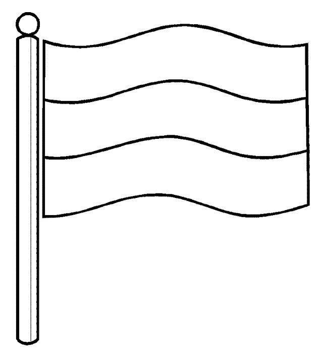 nederlandse vlag kleurplaten knutselen koningsdag vlag