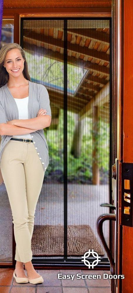 Magnetic Screen Door, Mesh Curtain - Keeps Bugs & Mosquitoes Out #EasyScreenDoors