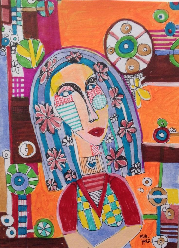 Faces ilustration by Eva Holz