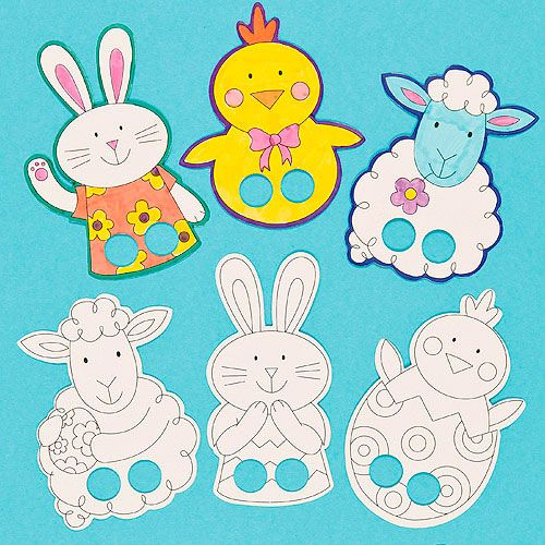 Easter Finger Puppets | Images Patterns & Templates Easter | Pinterest