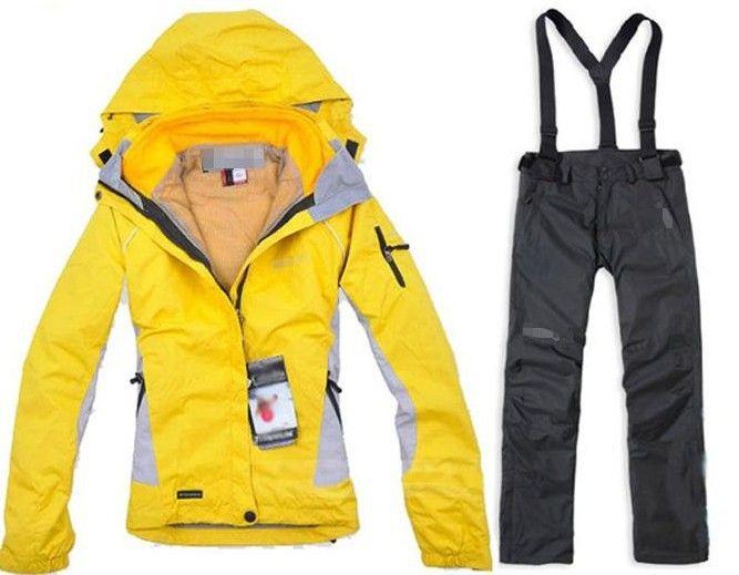 Trajes de esquí , la moda a prueba de agua a prueba de viento chaqueta transpirable snowboard al aire libre y los pantalones fijados, Chaquetas de Esquí directamente  de China: