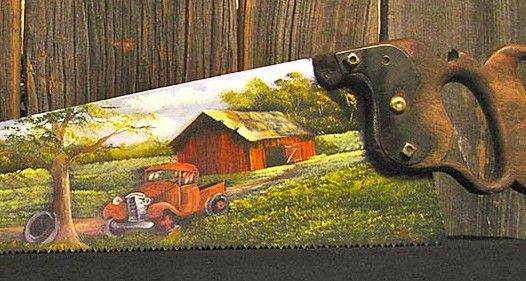 Antique Truck Handsaw