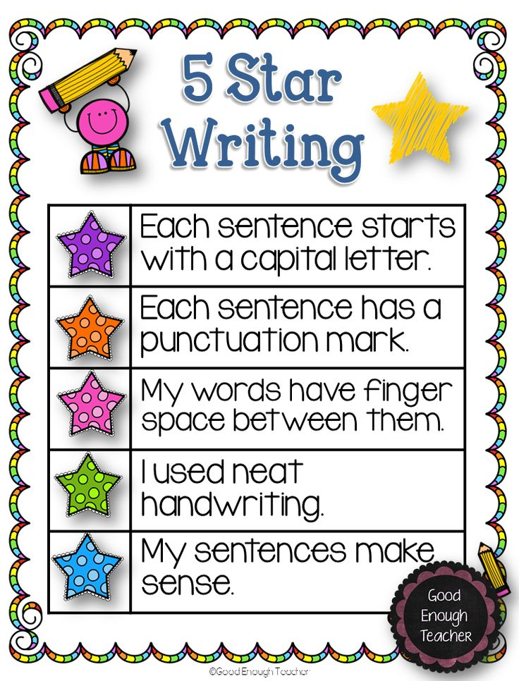 Good Enough Teacher: 5 Star Writing {poster  a freebie}
