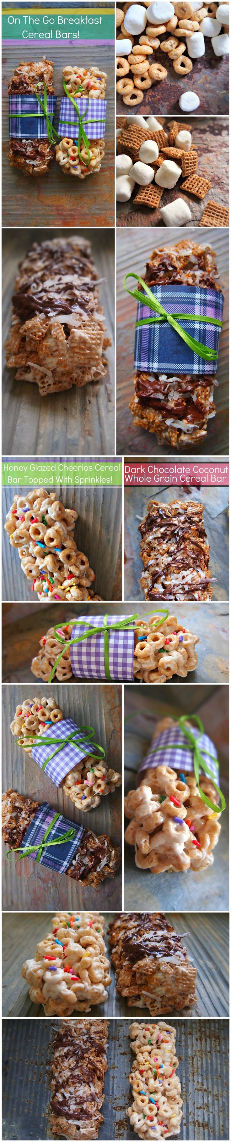 On The Go Cereal Bars!Mcnitt Cerealbar, Cerealbar Tarlynnmcnitt, S'More Bar, Cereal Recipes For Treats, S'Mores Bar, Bar Recipe, Homemade Cereal Bars, Cereal Bar Tarlynn Mcnitt, Mcnitt Cereal Bar
