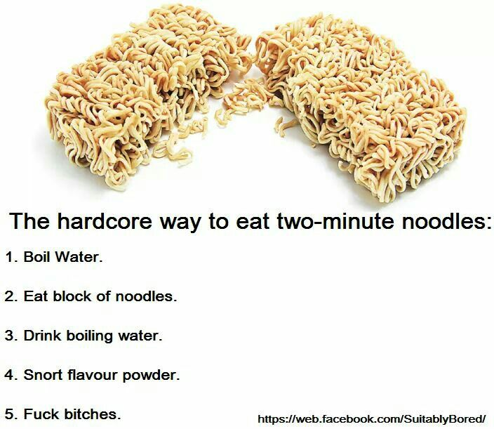 I've been eating ramen noodles wrong mh whole life