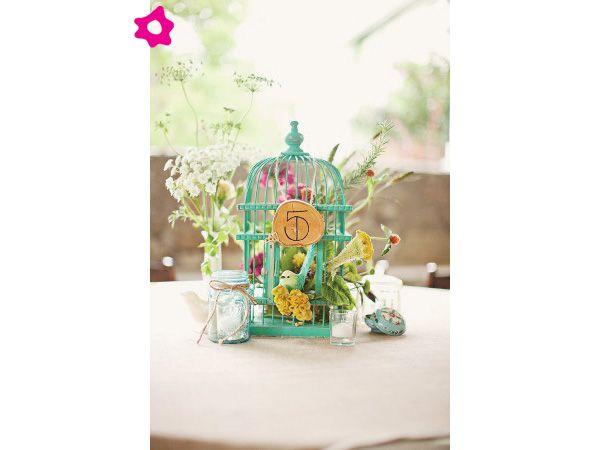 decoracin de boda con jaulas de pjaro
