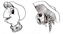 """Drawing the turtle, pirate, donkey or bear from matchbook covers to see if we were """"good enough"""" to get into art school."""