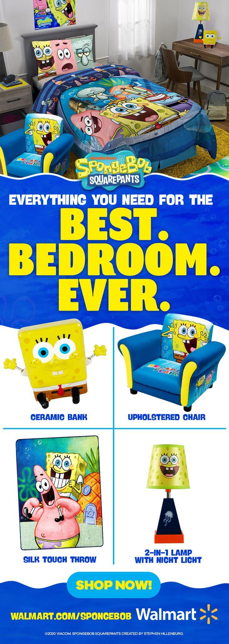 Sponge Bob Happy Bedspread Set Bedspread set, Spongebob