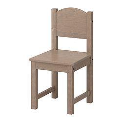 SUNDVIK, Children's chair, gray-brown