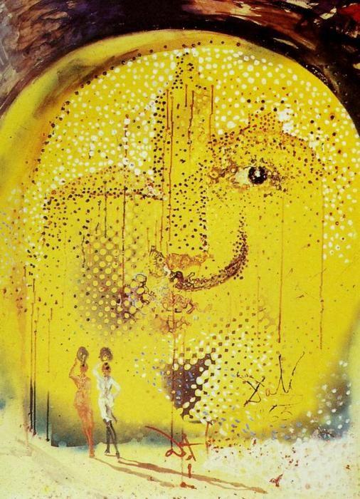 """""""Die Sonne von Dali"""", 1965 von Salvador Dali (1904-1989, Spain)"""
