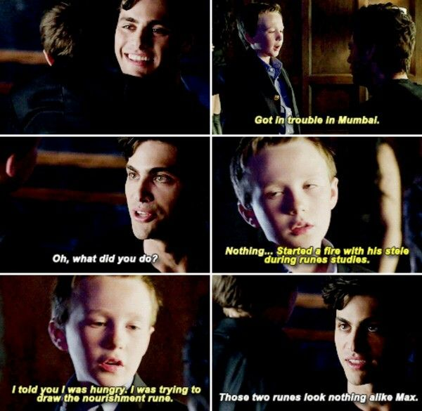 Max and Alec #Shadowhunters #1x06 I don't really think the tv show is great compared to the books but this was funny!