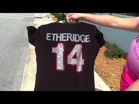▶ How To Make A MegaBling Rhinestone Baseball Mom Shirt - YouTube