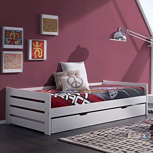 Cama nido doble juvenil Dario con somier incluido en color Blanco - http://vivahogar.net/oferta/cama-nido-doble-juvenil-dario-con-somier-incluido-en-color-blanco/ -