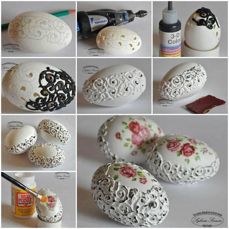 Csipke a trend a tojásdekorálásban is... / The trend is #lace in egg-decoration...