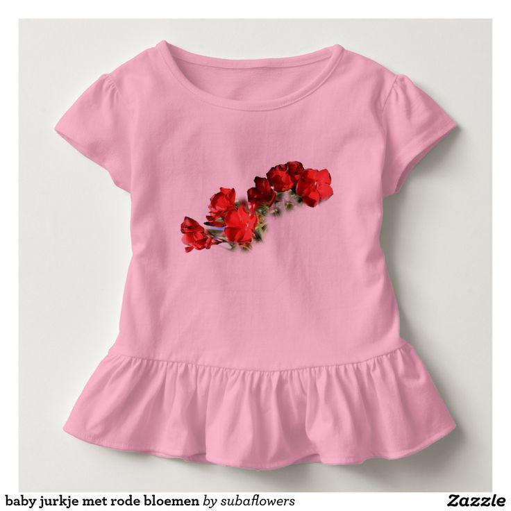 baby jurkje met rode bloemen shirts