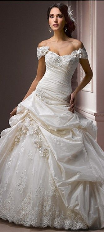 """LOVE this!!! Too much going on for a vow renewal, but great for a new bride. Maggie Sottero Wedding Dress """"Decadence"""""""