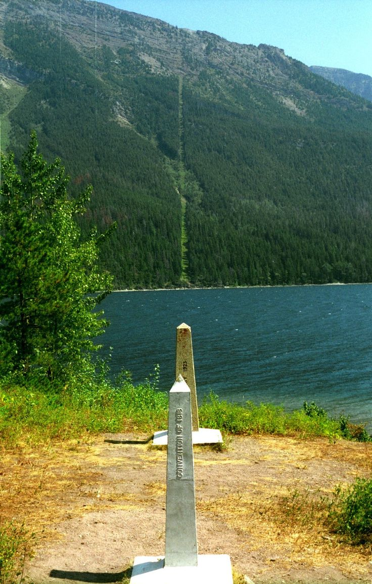 The Canada-United States Border was laid and cleared in 1845 along the 49th Parallel