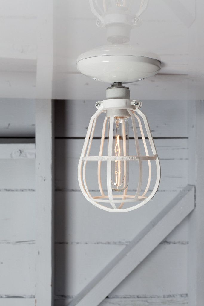 modern cage light ceiling mount