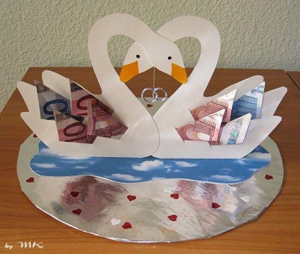 Prächtiges Geldgeschenk zur Hochzeit.