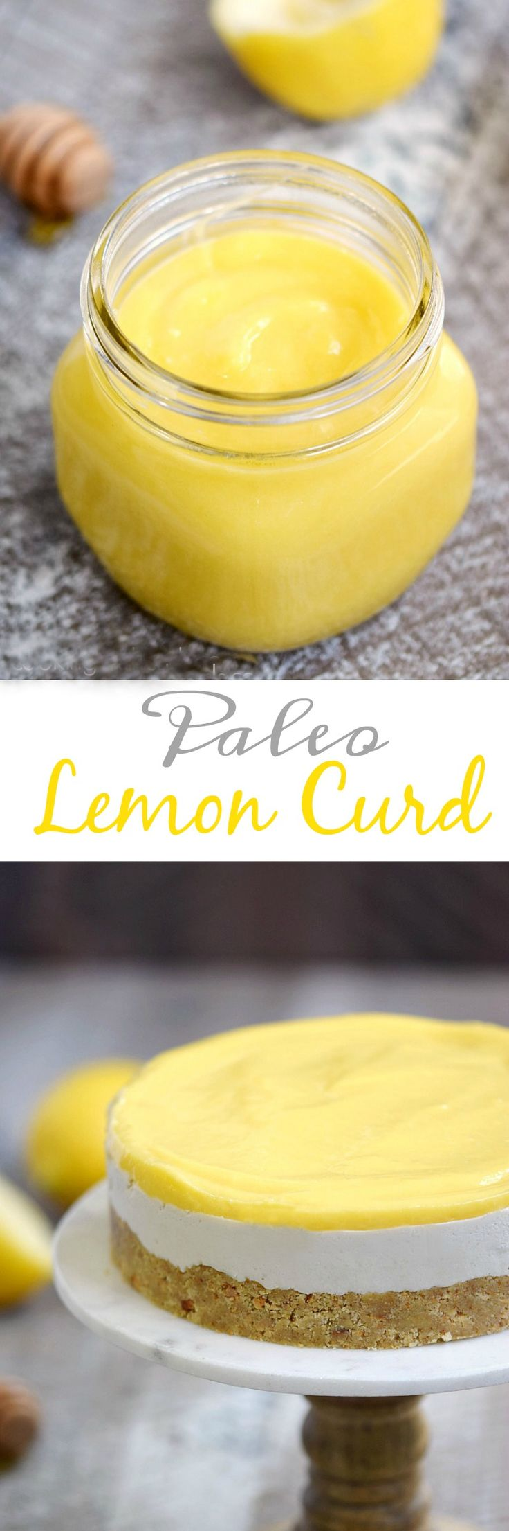 Brighten up your mornings and desserts with this rich and creamy Paleo Lemon Curd. It is refined sugar and dairy-free, so you can skip the guilt! cookingwithcurls.com